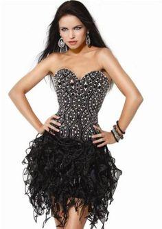 Jovani 7709, Embellished Cocktail Dress With Textured Skirt