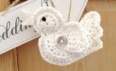 Crochet wedding birds