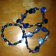 I just discovered this while shopping on Poshmark: Blue Bracelets. Check it out!  Size: OS