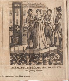 Execution of Marie Antoinette, published on October 28th, 1793, just 12 days after the queen was killed.