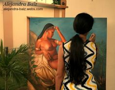 Painting Taino culture.
