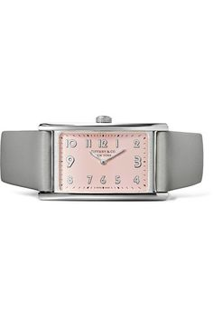 Tiffany & Co. - East West Mini 37 Leather And Stainless Steel Watch - Silver - one size