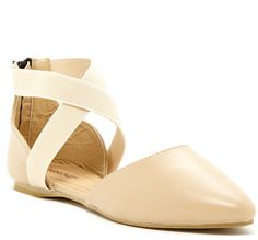 Carrini Crisscross Ankle Strap d'Orsay Flat >>> More info could be found at the image url.