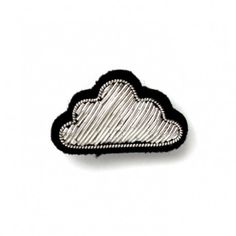 """SMALL HAND-EMBROIDERED """"CLOUD"""" PIN"""