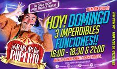 Imperdibles Funciones!!! ATENCIÓN CURICÓ!!!🤣 Hoy en su día!!! en el día del Padre!! aún quedan entradas, ven a disfrutar en familia!! en el Gran Circo de Ruperto!😜