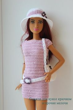Crochet Toy Barbie Clothes Doll clothes crochet and other stuff More - Barbie Clothes Patterns, Crochet Barbie Clothes, Doll Clothes Barbie, Barbie Dress, Barbie Doll, Crochet Barbie Patterns, Princess Dress Patterns, Crochet Toys, Accessoires Barbie