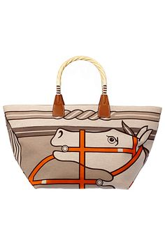 95d6c8eda7 An Hermes Steeple Toile Tote Bag