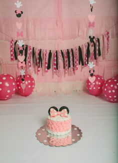 Minnie Mouse Themed Cake Smash  1st birthday, baby's first birthday, bday, cake, cake smash, cake smash photoshoot, cake smash session, disney, disney world, first birthday, grow with me, minnie mouse, minnie mouse birthday, minnie mouse cake, minnie mouse decorations, minnie mouse party, minnie mouse smash cake, one year, one year old, photography, photoshoot, pink minnie mouse, smash cake, toddler, toddler life