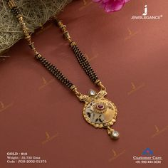 Jadtar Mangalsutra jewellery for Women by jewelegance. ✔ Certified Hallmark Premium Gold Jewellery At Best Price Gold Chain Design, Gold Ring Designs, Gold Jewellery Design, Antique Jewellery, Indian Jewelry Sets, Ladies Jewelry, Women Jewelry, Gold Bangles For Women, Gold Mangalsutra Designs