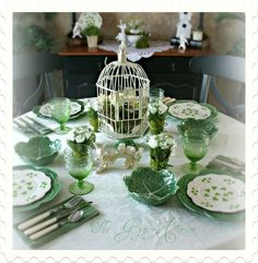 Image detail for -St.Patrick's Day Tablescape, I used Bordallo cabbage bowls… Image detail for -St.Patrick's Day Tablescape, I used Bordallo cabbage bowls and dinner … St. Patrick's Day ConversThese St Patrick's Dafunny St. Patrick's Day C