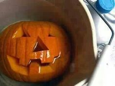 To preserve your pumpkin, 1 Tsp bleach to 1gal of water. Soak for 20 minuets. Kills bacteria so the pumpkin last longer. Hang upside down until dry. Mix together 2tsp vinegar, 1 tsp lemon juice, 1 quart water, brush onto pumpkin to keep it beautiful.