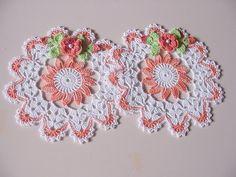 Crochet Dollies, Crochet Potholders, Crochet Tablecloth, Crochet Flowers, Thread Crochet, Knit Or Crochet, Cute Crochet, Crochet Stitches, Crochet Circles
