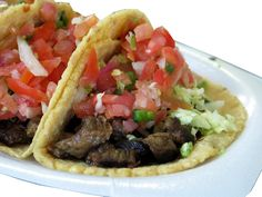 Carne Asada tacos are incredible and this recipe just about has it right. I enjoy cooking my meat in a can of beer and lime juice until all the juices are cooked out. Add salt and it is incredible explosion of taste for your mouth! Mexican Dishes, Mexican Food Recipes, Ethnic Recipes, Dinner Recipes, Steak Recipes, Cooking Recipes, Healthy Recipes, Yummy Recipes, Shaved Steak Recipe