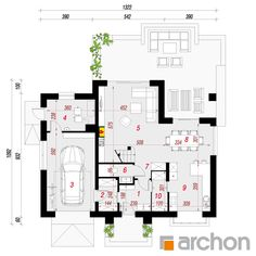 Projekt domu Dom w kalateach 6 (T) - ARCHON+ Floor Plans, Home, Projects, House, Ad Home, Homes, Haus