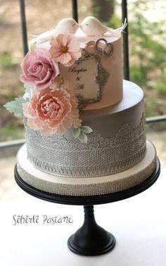 Love Birds Wedding Cake by Sihirli Pastane - http://cakesdecor.com/cakes/277148-love-birds-wedding-cake