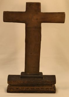 Dramatic, substantial and almost Gothic in feel, this steel metal sacrament cross was cut with a torch and welded together by hand. It is simple in its construction but the effect is powerful. Museum Collection, Steel Metal, Art Pieces, Simple, Steel, Artworks, Art Work