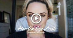 Hooded Eye Tutorial || Everyday look for Downturned Eyes - Elle Leary Artistry #makeup #BlusherMakeup Simple Eyeshadow Tutorial, Hooded Eye Makeup Tutorial, Eyeshadow Tutorial For Beginners, Beginners Eye Makeup, Beginner Eyeshadow, Eye Tutorial, Makeup For Downturned Eyes, Makeup For Brown Eyes, Everyday Makeup Tutorials