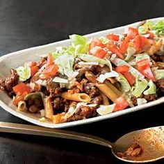Taco Pasta Toss will leave everyone happy!   http://www.rachaelraymag.com/Recipes/rachael-ray-magazine-recipe-search/rachael-ray-30-minute-meals/taco-pasta-toss