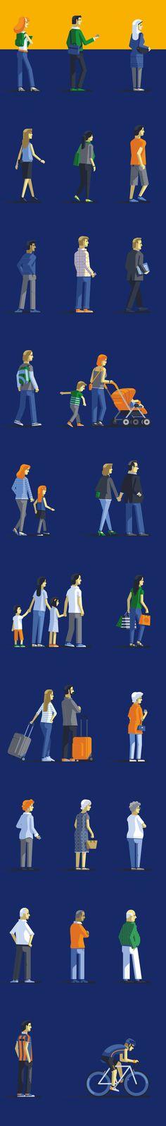 Городской ландшафт, транспорт, люди и руки в плоском стиле от Mauco Sosa - Статьи - RU.Vectorboom