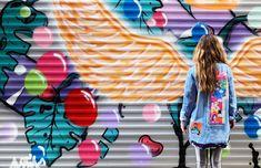 Pop-art detaylı denim ceket Pop Art, Quilt Block Patterns, Art Pop