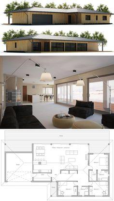 Home Plans, House Plans, Architecture, Floor Plans, New Home Plan Small House Floor Plans, Simple House Plans, Modern House Plans, Future House, My House, Modular Home Plans, Modular Homes, Casas Containers, Container House Plans