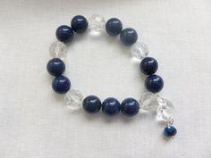 Blue Lapis Stretch Bracelet by CaseyRoseCollection on Etsy, $14.00