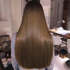 Hair Weave Style Sew in Ash Brown Color Remy Human Hair Long Dark Hair, Very Long Hair, Light Brown Hair, Beautiful Long Hair, Gorgeous Hair, Weave Hairstyles, Straight Hairstyles, Coiffure Hair, Brown Hair Balayage