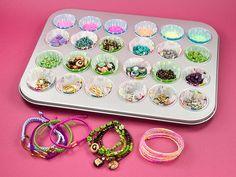 Great idea for a bead party! ... Beady Buffet | Artbeads.com