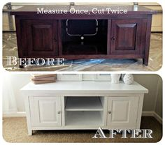 How to paint laminate furniture without stripping or sanding.