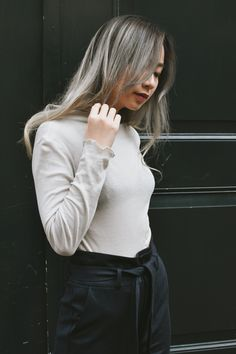 The Rachel top is sophisticated and feminine, it has a light lustre effect when the light shines on you. Glow darling, glow. Made from 100% BCI Certified Cotton - Green Fashion by NOUMENON #vegan #veganfashion #ethicalfashion