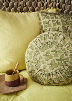 Leaf Print Floor Cushion Cover