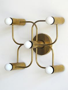 Brass Five Light Wall Lamp | Leola