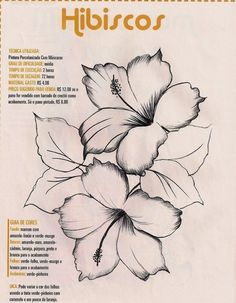Embroidery Patterns for our Embroidery Project - Embroidery Patterns China Painting, Tole Painting, Fabric Painting, Painting & Drawing, Flower Sketches, One Stroke Painting, Painting Patterns, Paint Designs, Line Drawing