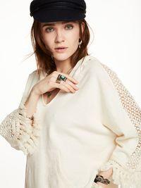 Sweat-shirt à capuche à pampilles | Sweat-shirts | Habillement Femme Scotch & Soda