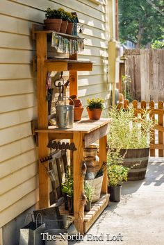Summer Potting Bench