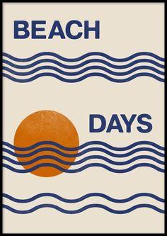 Thé Illustration, Graphic Design Illustration, Picture Frame Inspiration, Plakat Design, White Picture Frames, Online Posters, Summer Design, Sea Waves, Art Graphique