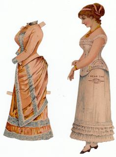 #1 Duplex Corset, 1886 Advertising Paper Doll