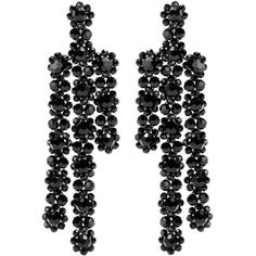 Simone Rocha Beaded Earrings (1.580 BRL) ❤ liked on Polyvore featuring jewelry, earrings, black, earring jewelry, simone rocha, beaded earrings, beaded jewelry and beading earrings