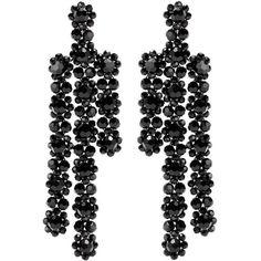 Simone Rocha Beaded Earrings (€445) ❤ liked on Polyvore featuring jewelry, earrings, black, beaded jewelry, earring jewelry, beaded earrings, bead jewellery and beading earrings