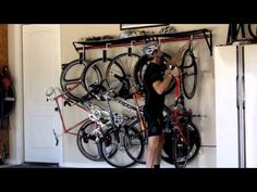 Velogrip bike racks include soft hook Velostraps that swivel for incredible space saving bicycle storage. Available in 3 bike and 2 bike capacity racks. The mesh cloth gear hammock shelf is perfect for storing your cycling shoes, gloves, and helmets between rides. Choose from a variety of colors to best showcase your trophy!