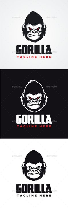 Angry Gorilla Logo — Photoshop PSD #beast #power • Available here → https://graphicriver.net/item/angry-gorilla-logo/12586739?ref=pxcr