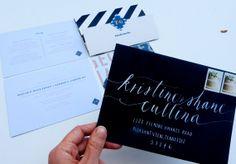 SAC mélangé - calligraphie adressage pour papeterie de mariage ou fête
