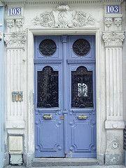 blue in Paris, France...