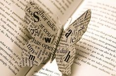 Newspaper butterfly craft. #butterfly #newspaper #craft