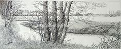 Drentse Aa II   Arie Goedhart   Tekening   Drawing   Art
