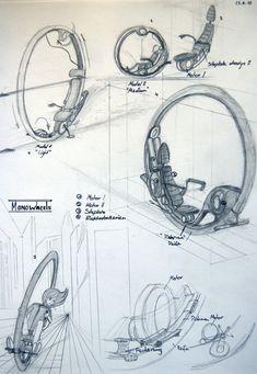 Concept art: Sci fi Monowheel by on DeviantArt