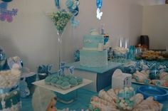 baby boy candy table