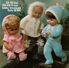 Image result for tiny tears doll knitting