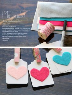 Felt Heart Gift Tags | 51 Seriously Adorable Gift Tag Ideas