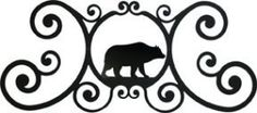 Bear House Sign by Maine Home Journal. $48.62. Finish is baked on for durability.. Crafted from Iron with a black matte finished.. Made in America. This decorative iron house sign has a baked on flat black powder coating for the traditional ironwork look. This fine iron product is made in America.